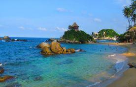 Playas vírgenes del Parque Natural de Tayrona. Colombia